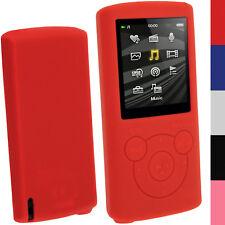 Rosso Custodia Silicone Case Cover per Sony Walkman NWZ-E384 E383 Prot. Schermo
