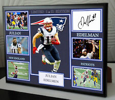 "JULIAN EDELMAN New England Patriots Framed Canvas Signed ""Great Gift"""