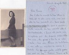 * CASASOLA - Cartolina + Lettera con testo sui bombardamenti 1943 WWII Maniago
