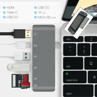 6 in 1 USB C Hub USB Type C 3.0 Adapter Dock with 4K HDMI PD Charge for MacBook