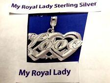 Love Sterling Silver Pendant  .925 Pure Silver