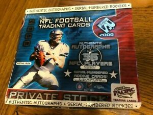 2000 Pacific Private Stock Factory Sealed Football Retail Box TOM BRADY Rookie