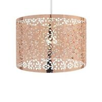 Moroccan Style Copper 25cm Round Metal Easy Fit Light Shade w/ Cut out Pattern