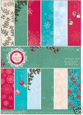 """48 Pad Feuille 6/"""" x 6/"""" Jolly Vacances Carte de Noël Making Craft Paper 200gsm"""
