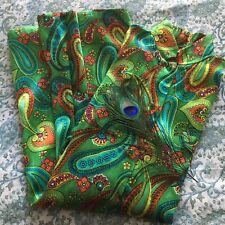 Vintage 1960's Psychedelic Paisley Print Nehru Collar Dress/jacket
