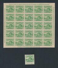 U.S. #730 & 731 AMER PHILATELIC SOCIETY S/S & SGLS MNGAI (1933); IMPERF; CV $42