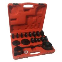 23Pcs Front Wheel Drive Hub Bearing Adapter Press Kit Removal Puller Tool Case
