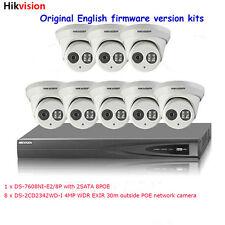 Hikvision 8CH POE NVR &8 x 4MP POE camera kit CCTV Hikvision POE Security System