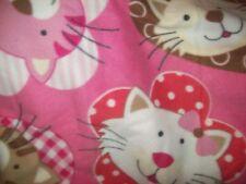 CATS KITTENS preschool baby toddler fleece blanket 45X30 d free personalization