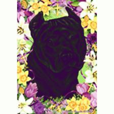 Easter House Flag - Black American Pit Bull Terrier 33407