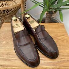 Edward Green Brown Leather Loafers Slip On Shoes Made in UK Sz UK 4.5 EU 37.5