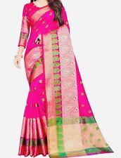Cotton Silk Banarsi Designer Saree With Stitched matching Blouse Size-34.