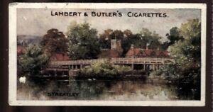 Tobacco Card, Lambert Butler, THAMES LECHLADE TO LONDON, 1907, Streatley, #22