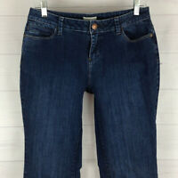 Coldwater Creek womens size 6 long stretch blue faded dark wash bootcut jeans