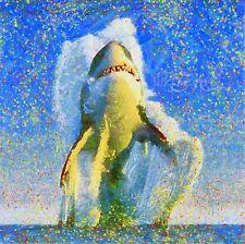 Nik Tod recrear desde la pintura original Grande Art tiburón sale del océano
