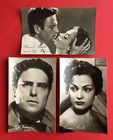 3 x Progress Starfoto AK Schauspieler Carmen Sevilla und Ralf Vallone ( 41556