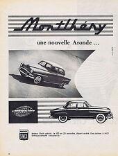 PUBLICITE ADVERTISING 074 1957 SIMCA la nouvelle aronde Montlhéry