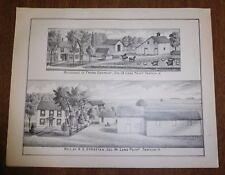 Antique Print Plate - Conradt Strattan Homes Farm Long Point Township Illinois