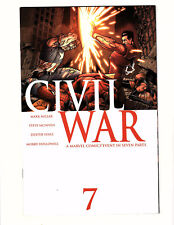 Civil War #7 (2007, Marvel) VF+ Captain America Iron Man Finale Millar McNiven