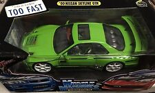 Muscle Machines SS Tuner 2000 NISSAN SKYLINE GTR NISMO 1:18 Scale Neon Green