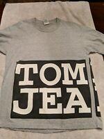 TOMMY HILFIGER JEANS T-Shirt MEN'S Large block Unique Vintage vtg EUC