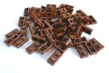 50 x LEGO 3023 City,Basicsteine,Bausteine flach in 1x2 braun Neuware