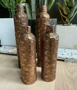Abigail Ahern Copper Vase Two Large, 2 Medium, sold as a set
