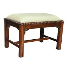 NLR080, Niagara Furniture,  Chippendale Bench with Cross,  Mahogany  Bench