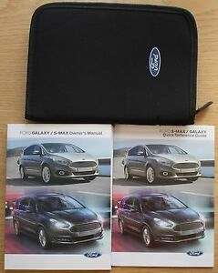 GENUINE FORD GALAXY S-MAX HANDBOOK OWNERS MANUAL WALLET 2015-2020 PACK