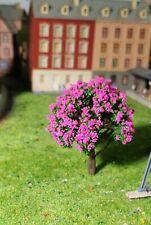 10 grüne Laubbäume, rosa blühend, 80 mm hoch