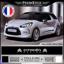 Sticker Pare Soleil Citroen Racing - Autocollant Voiture, Stickers Rallye, ref1