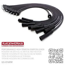 RACEWORKS 8.5MM IGNITION LEADS V8 253 & 308 RED MOTOR [HOLDEN HT-HG-HQ-HJ-HX-HZ]