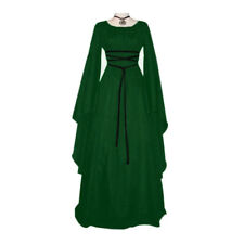 Womens Vintage Medieval Dress Renaissance Gothic Costume Gown Dress