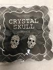 Two's Company Stud Skull Earrings Great Halloween Gift!