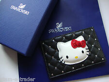 SWAROVSKI Crystal Hello Kitty Black Card / Travel Pass Holder BNWT BNIB Gift Box