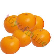 6pcs orange artificielle Large - plastique décorative Fruit oranges Faux