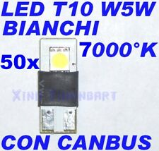 Nr 50 LED BIANCO 7000°K CAN BUS T10 W5W NO ERRORE SPIE