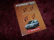 Prospectus / Brochure SUBARU Forester S Turbo 1998 //