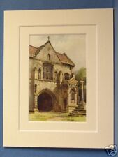 WORKSOP PRIORY GATEWAY NOTTINGHAM VINTAGE DOUBLE MOUNTED HASLEHUST PRINT 10 x 8