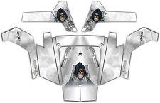 Polaris RZR 800 UTV Wrap Graphics Decal Kit 2007 2010 Reaper Revenge White