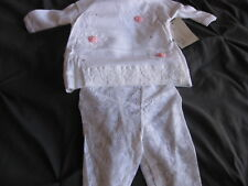 New Infant Outfit by Anru White Knit Baby Girl 2 Piece 6 Months LOOK