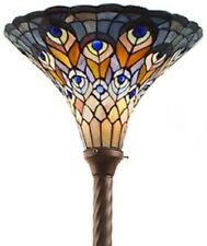 Tiffany floor lamps ebay antique tiffany style peacock torchiere lamp tiffany lamps torch floor lighting audiocablefo