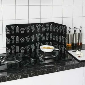 Folding Kitchen Cooking Oil Splash Screen Cover Stove Anti Guard T1Y5
