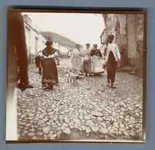 España, Malaga, Mujeres de Malaga  Vintage citrate print. Vintage Spain  Tirag