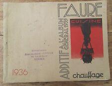 ANCIEN CATALOGUE CUISINIERES BOIS CHARBON FAURE 1936