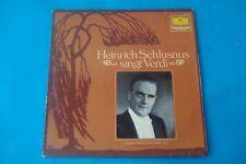 """HEINRICH SCHLUSNUS """" SINGT ARIEN VON GIUSEPPE  VERDI """" LP D. G.  NUOVO"""