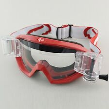 FOX MAIN MX MOTOCROSS GOGGLES RACE RED with GSVS ROLL-OFF SYSTEM
