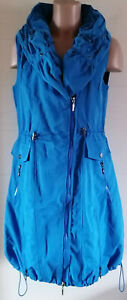 NEU-Superschöne lange Weste, blau v. Franstyle Gr. 40, L, auch als Kleid tragbar