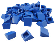Lego 50 Pièce Tuiles en Béton Bleu 30 1 x1x 2/3 Bloc Incliné 54200 Tuiles Neuf