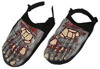 Halloween Bloody Horror--ZOMBIE FEET SHOE COVERS--Walking Dead Costume Accessory